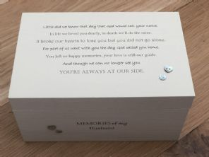 Personalised LARGE Box In Memory Of A Loved One HUSBAND Or Any Name Shabby Chic - 253463342837